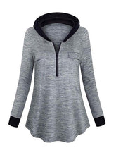 Load image into Gallery viewer, Women's Half Zip Hoodie Outdoor Sweatshirt-BelleChloe-o1o.store