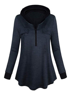 Women's Half Zip Hoodie Outdoor Sweatshirt-BelleChloe-o1o.store