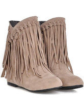 Load image into Gallery viewer, Casual Pu Leather Tassel Flat-Heel Ankle Boots-BelleChloe-o1o.store