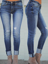 Load image into Gallery viewer, Hole Low Waist Fashion Jeans-BelleChloe-o1o.store