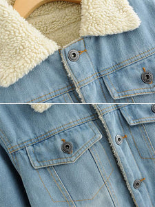 Thick Casual Denim Jacket-BelleChloe-o1o.store