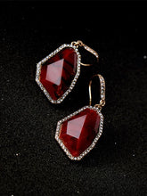Load image into Gallery viewer, Vintage Simple Irregular Red Earring Necklace-BelleChloe-o1o.store