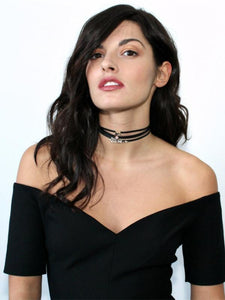 PU Short Thin Choker Clavicle Necklace-BelleChloe-o1o.store