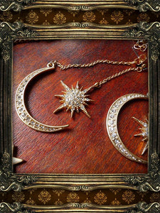 Star Moon Mythology Earrings Necklace-BelleChloe-o1o.store