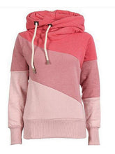 Load image into Gallery viewer, Contrast Color Hooded Velvet Thick Sweatshirt-BelleChloe-o1o.store