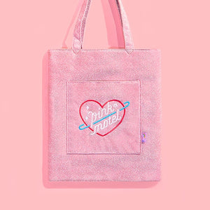 Student Shopping Bag Shiny Cotton Handbags