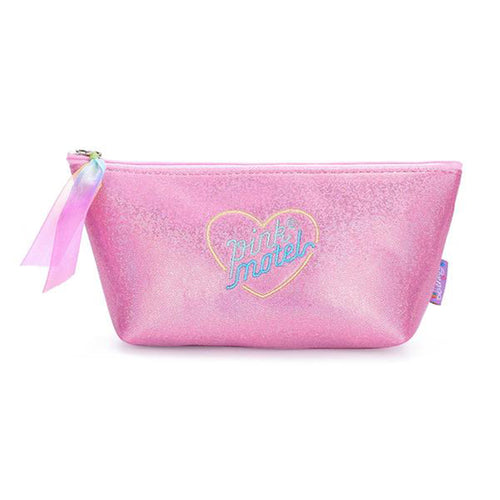 Lolita style embroidery heart makeup bags