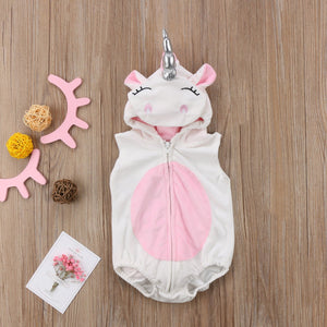 Toddler Newborn Unicorn Baby Girls Fleece Romper Jumpsuit Jumper Outfits Costume-BelleChloe-o1o.store