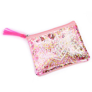 Zipper tassels clutch bag summer jelly bag sequins purse