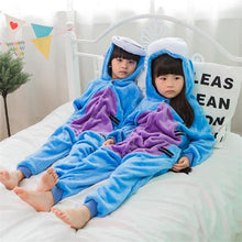 Load image into Gallery viewer, Kids Blue Donkey Pajama Anime Cosplay Costume Flannel Warm Sleepwear Suit-BelleChloe-o1o.store