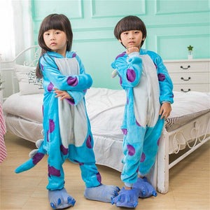 Kigurumi Sullivan Costume Kid One Size Anime Cosplay Flannel Warm Party Wear Funny suit-BelleChloe-o1o.store