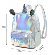 Load image into Gallery viewer, Cute Ear Unicorn Backpack Female Leather Backpack