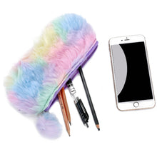 Load image into Gallery viewer, NEW Colorful Plush School Pencil Bag Women Makeup Brush Bag