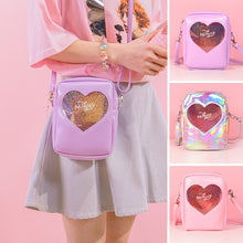 Load image into Gallery viewer, Cute Pink Messenger Heart Handbags