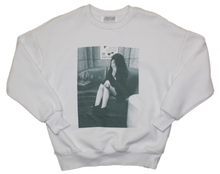 Load image into Gallery viewer, WHITE SWEATSHIRT WITH FRONT & BACK PRINT