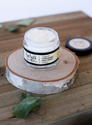 Organic Peppermint Face Wash - Lulu's Vegan Skin