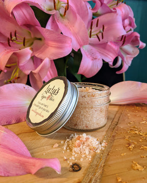 60 MG Hemp Bath Salts infused with 6 essential oils - Lulu's Vegan Skin