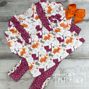 Krazy Kitties Two Piece Set-KIDS