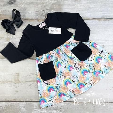 Rainbow Ruffle Dress -KIDS