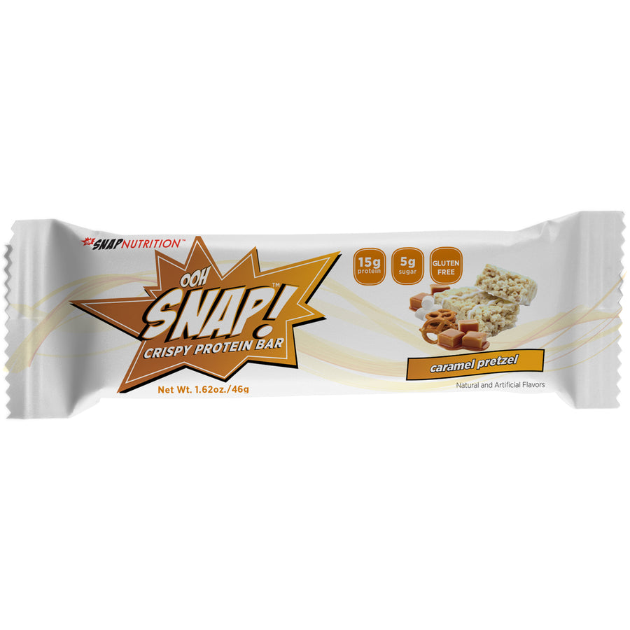 SNAP Nutrition Crispy Protein Bars - Caramel Pretzel - 7 Count Box