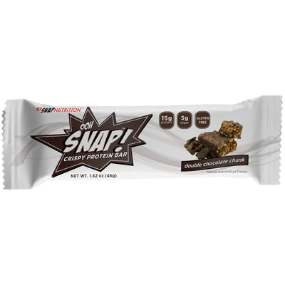 SNAP Nutrition Crispy Protein Bars - Double Chocolate Chunk - 7 Count Box