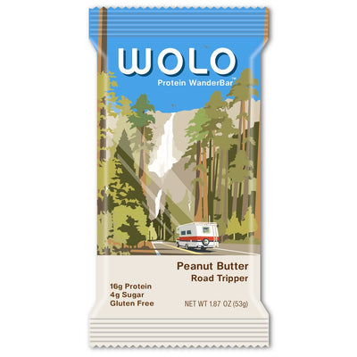WOLO WanderBar™ Peanut Butter Protein Bar (12-pack)