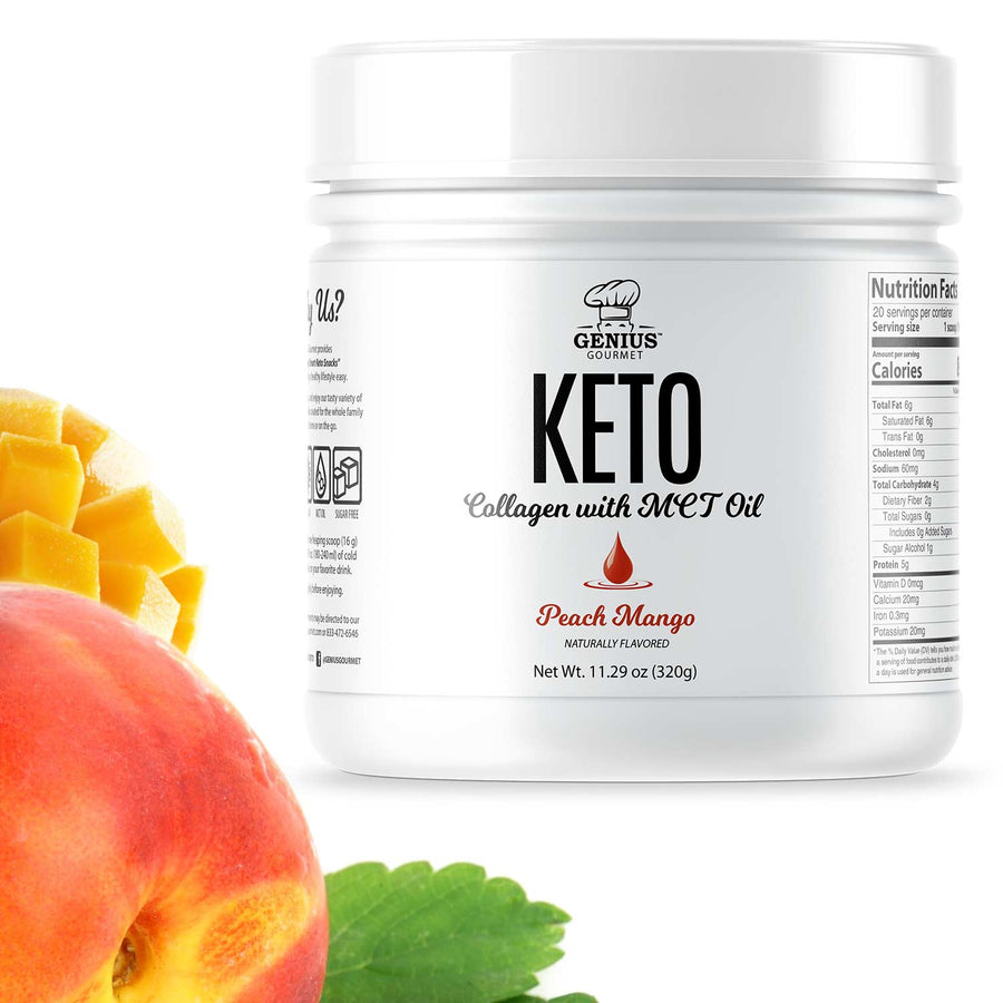 Keto Collagen with MCT Oil - Peach Mango (12 Bottles)