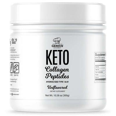 Keto Collagen Peptides - Unflavored (12 Bottles)
