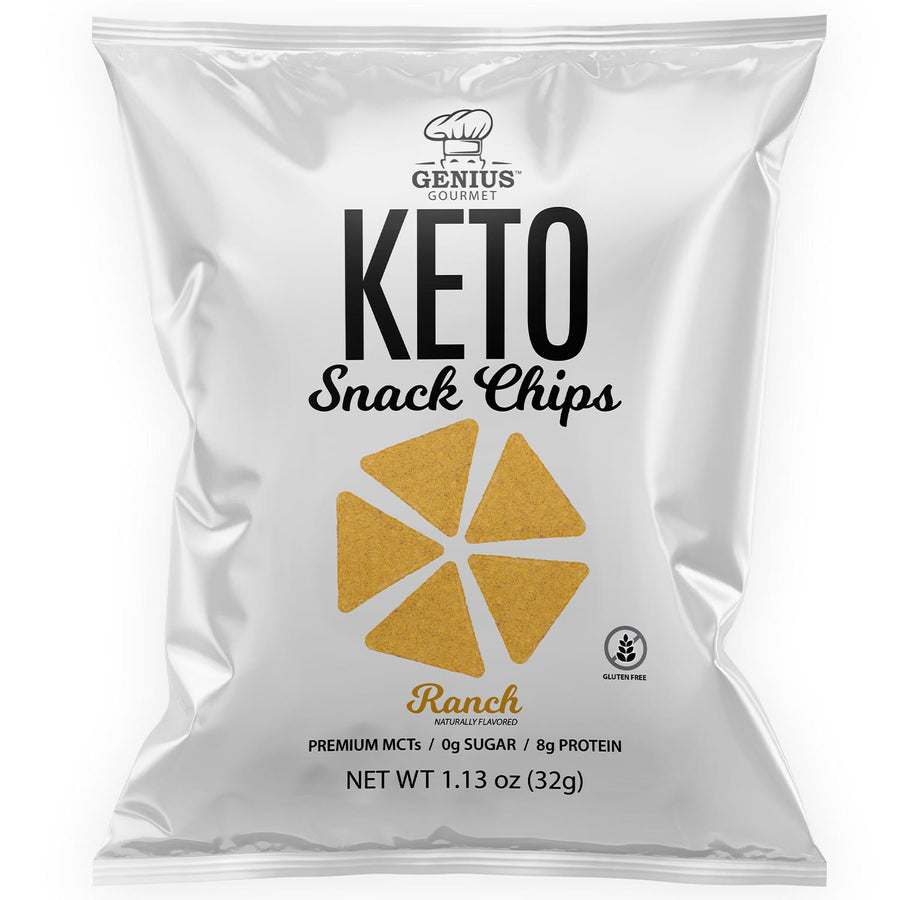 Keto Snack Chips - Ranch - Retail Display (8 Bags)