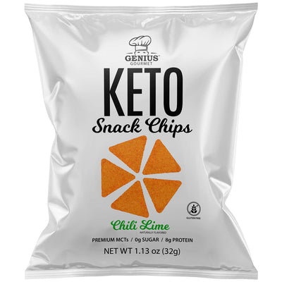 Keto Snack Chips - Chili Lime - Retail Display (8 Bags)