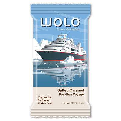 WOLO WanderBar™ Salted Caramel Protein Bar - Gluten Free & Soy Free (12 pack)