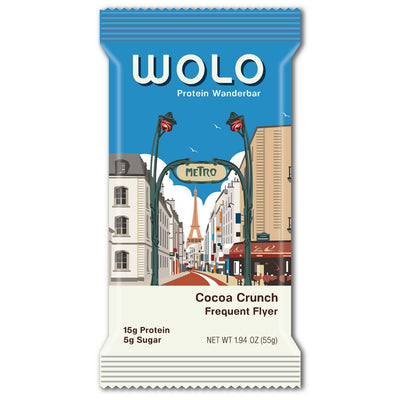 WOLO Wanderbar® Cocoa Crisp / Frequent Flyer Protein Bar