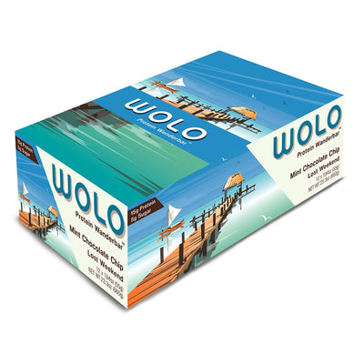 WOLO Wanderbar® Wolo Mint Chocolate Chip / Lost Weekend Protein Bar (box)