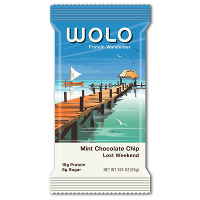 WOLO Wanderbar® Wolo Mint Chocolate Chip / Lost Weekend Protein Bar