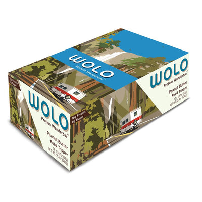 WOLO Wanderbar® Peanut Butter / Road Tripper Protein Bar (box)