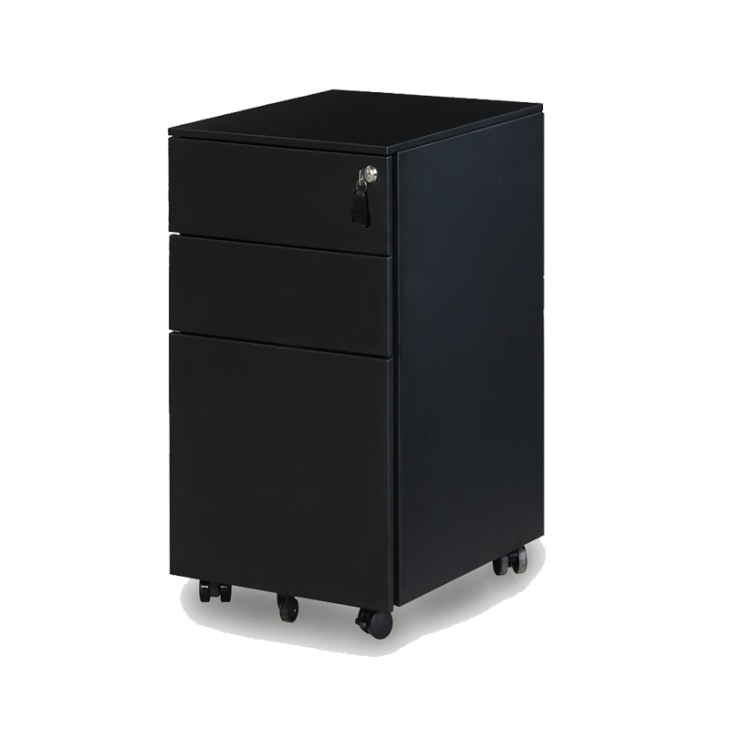 EQ SLIMLINE MOBILE PEDESTALS IN BLACK