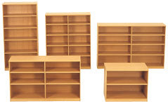 MELAMINE OPEN BOOKCASES