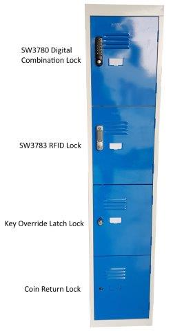 STATEWIDE LOCKERS NOW WITH ELECTRONIC, COMBINATION, COIN RELEASE & PADLOCK LOCK OPTIONS