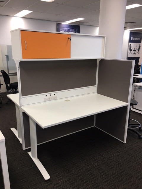 SHOWROOM CLEARANCE  STOCK - SYMMETRY 2 PERSON WORKSTATION WAS $2,725 NOW $1,365