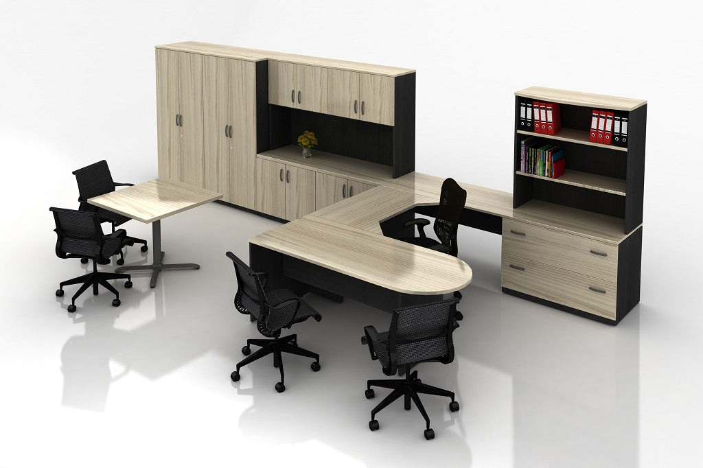 H5000 NATURAL TIMBER VENEER COMBINATION EXECUTIVE DESK RANGE