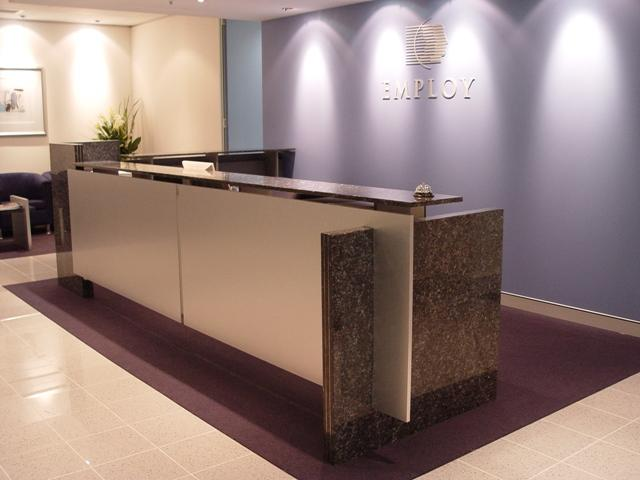 EQ9000 NATURAL TIMBER VENEER RECEPTION DESK