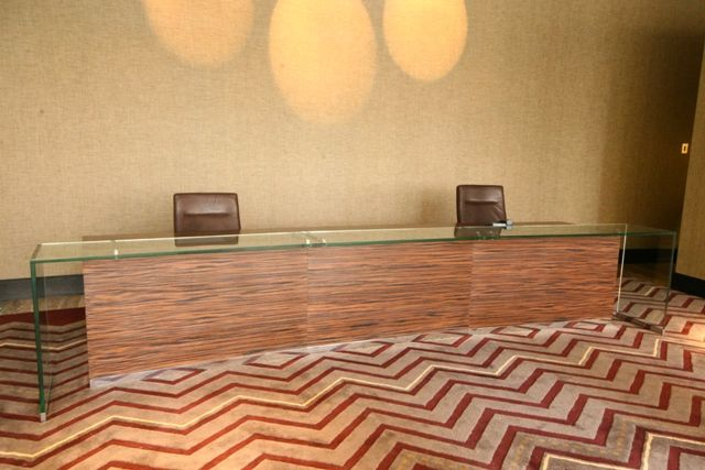 H9000 NATURAL TIMBER VENEER RECEPTION DESK & OUR CUSTOM DESIGN SERVICES