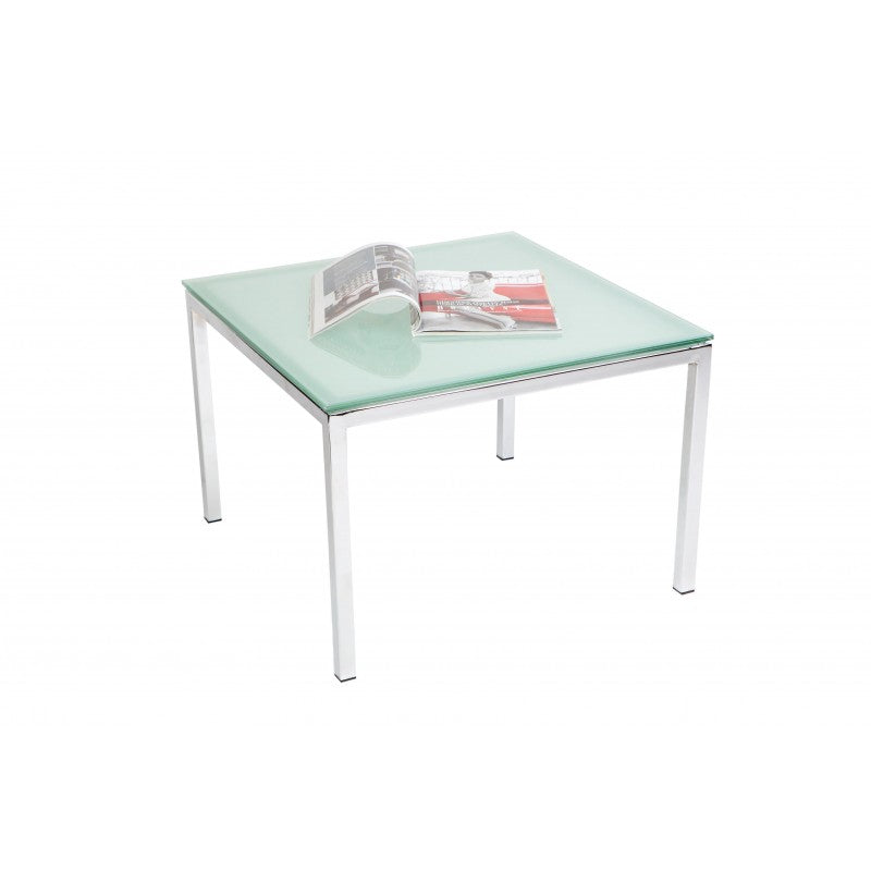 ATHENA COFFEE TABLE WITH GLASS TOP