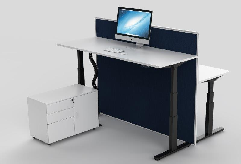 BLACK FRAME EVEREST ELECTRONIC HEIGHT ADJUSTABLE DESKS