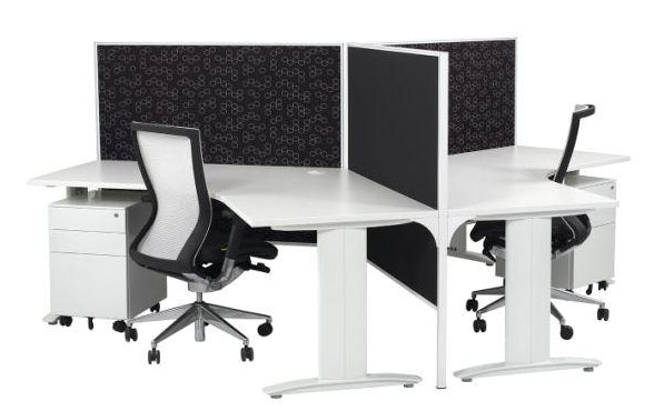 SYMMETRY WORKSTATIONS WITH CONNECT 30 SCREEN SYSTEM