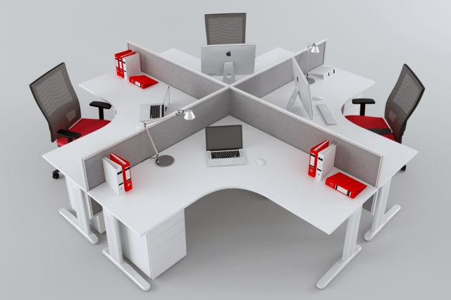 FORME DESK HUNG AND FREESTANDING SCREENS IN WHITE