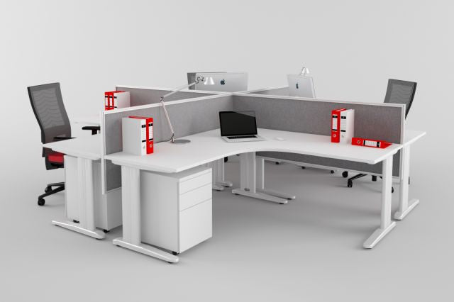 CRUZE WORKSTATION SYSTEMS in WHITE AVAILABLE FOR IMMEDIATE DELIVERY AND INSTALLATION