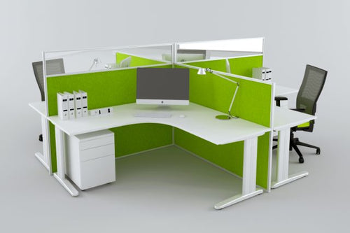 CRUZE WORKSTATION SYSTEMS IN WHITE, AVAILABLE FOR IMMEDIATE DELIVERY AND INSTALLATION