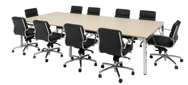 CUBIT BOARDROOM TABLE WITH CHROME FRAME
