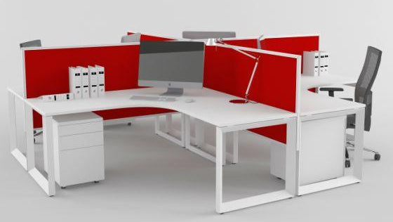 DIAMOND CORNER WORKSTATIONS AND DESKS in WHITE AVAILABLE FOR IMMEDIATE DELIVERY AND INSTALLATION